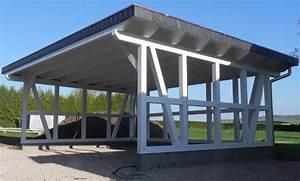 Carport Mit Plane : fachwerk carport erfurt flachdach kvh 7 50 x 5 30 m als bausatz ebay ~ Markanthonyermac.com Haus und Dekorationen