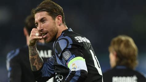 real madrids sergio ramos goal celebration  lionel