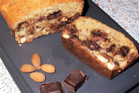 recette de cake banane amande  chocolat la recette facile