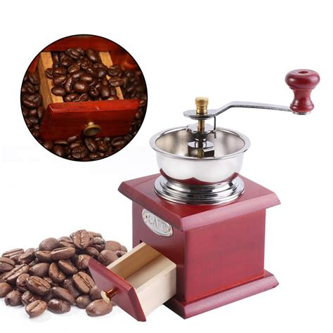 Office coffee machine with grinder is the appliance that grinds coffee first and then brews it. Retro Design Coffee Bean Hand Grinder Manual Coffee Grinders Mill Espresso Coffee Maker Home ...