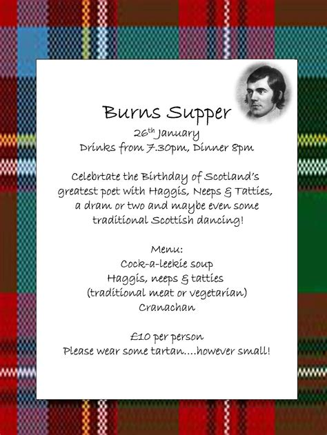 Burns Supper Menu Template antiques and teacups thursday tea things and talk burns