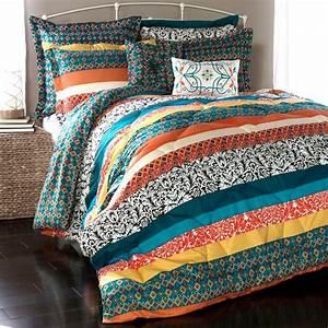 Lush, Decor, Boho, Stripe, Comforter, Set