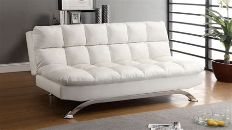 white leather sofa bed white leather futon sofa bed comfy pillow top