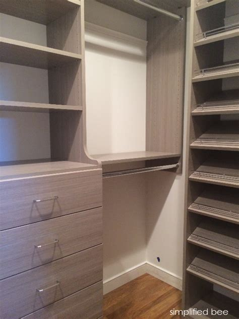 best small walk in closet design our small walk in closet design simplified bee