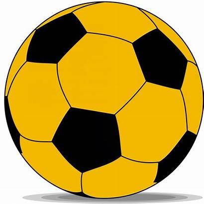 Ball Soccer Yellow Clipart Football Clip Cliparts
