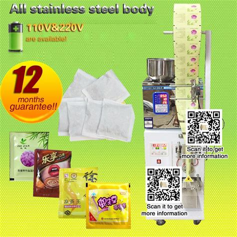 pouch packing machine   coffee filling  sealing machine  tea food seeds fruit