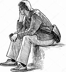 Dibujo de persona pensando — Archivo Imágenes Vectoriales ...