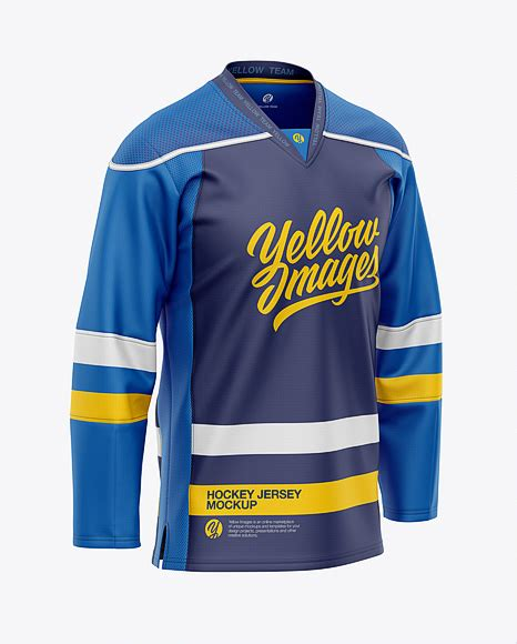 You can free half sleeves front and back jersey mockup psd. Hockey Jersey Mockup Psd Free