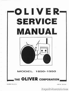 Oliver 1850 1950 Service Manual