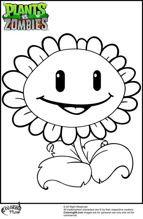 Coloring Zombies Plants by Plants Vs Zombies Coloring Pages Only Coloring Pages