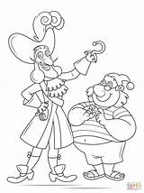 Hook Captain Coloring Pages Smee Mr Printable Drawing Pirate Underpants Tick Tock Jake Neverland Pirates Template Non Croc Sketch Cartoon sketch template
