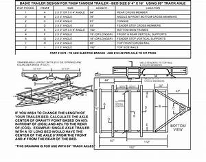 3500  Tandem Utility Trailer Parts Kit