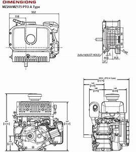 Yamaha Mz200 192cc Ohv Horizontal Engine Tapered Shaft