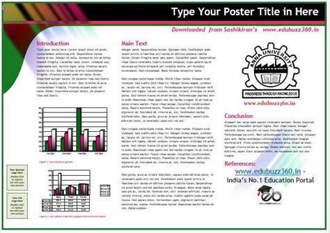 powerpoint poster template  size briskiinfo