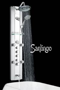 Duschpaneel Mit Massagedüsen : aluminium duschpaneel mit massaged sen wanneneinlauf thermostat von sanlingo bad duschpaneele ~ Eleganceandgraceweddings.com Haus und Dekorationen
