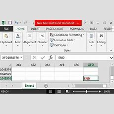 How Many Rows And Columns Are In One Excel Sheet? Quora