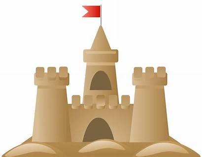 Sandcastle Clipart Clip Transparent Sand Castle Summer