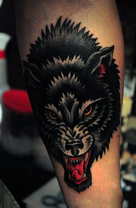black wolf tattoo  george warhol
