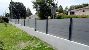 Faire Un Mur De Cloture : pornic bois sbm cl tures bois cl tures composite ~ Premium-room.com Idées de Décoration