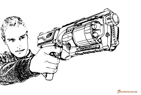 Exelent Nerf Gun Coloring Pages Images Example Resume