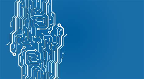 background blue chip circuit intelligent futuristic