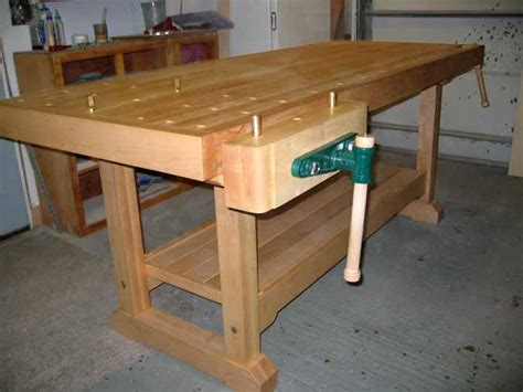 hard maple tradtional workbench finewoodworking