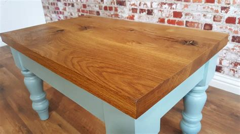 I like the smell of coffee and sawdust in the morning. Rustic Chunky European Oak Coffee Table Danish Finish Full Stave Farmhouse Style   Coffee table ...