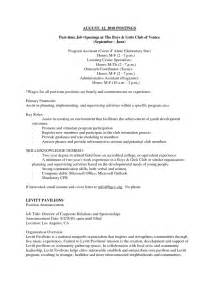 sle resume format resume for part time job template