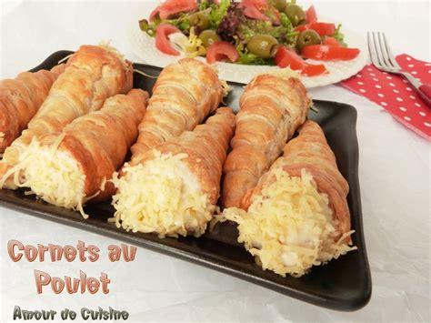 recette cuisine cornets au poulet amour de cuisine