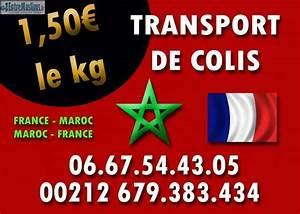 TRANSPORT DE BAGAGE FRANCE MAROC 1 EUROS LE KG TOUT LES