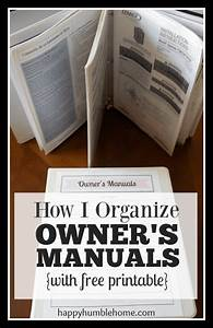 How I Organize Owner U0026 39 S Manuals  With Free Printable