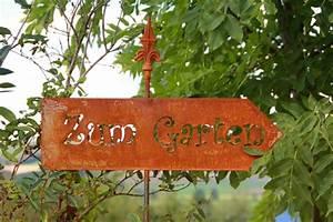 Metall Im Garten : gartenstecker zum garten aus rost metall edelrostshop ~ Lizthompson.info Haus und Dekorationen