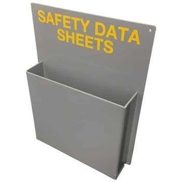 msds holders  storing organising material safety