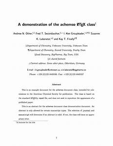 Latex templates acs publications for Journal of chemical physics latex template