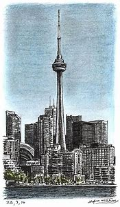 CN Tower Drawing
