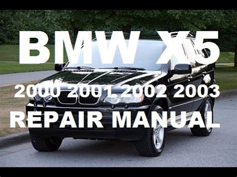 service and repair manuals 2002 bmw x5 auto manual 2000 2001 2002 2003 bmw x5 service repair manual youtube