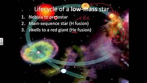 Low Mass Star Lifecycle