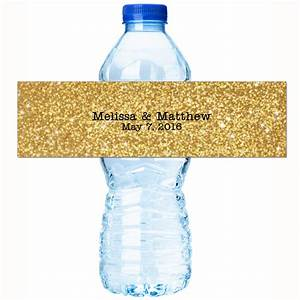 wedding water bottle labels 30 personalized water bottle With custom made bottle labels