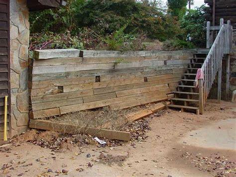 small yards  big  retaining walls