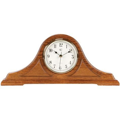 howard miller curio radio controlled tambour mantel clock with oak finish