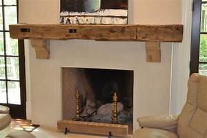 Reclaimed Wood Mantle - Rustic - Living Room - other metro