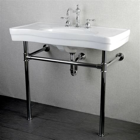plumbing bathroom vanity imperial vintage 36 inch wall mount chrome pedestal