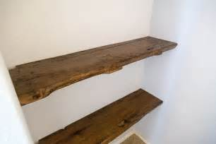 reclaimed oak floating shelves porter barn wood - Reclaimed Kitchen Islands