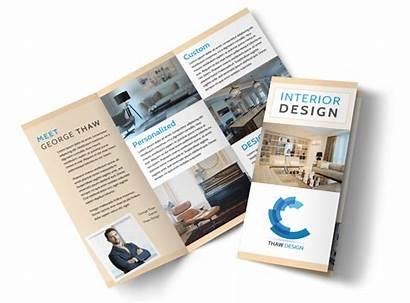 Brochure Interior Template Simple Fold Tri Creative