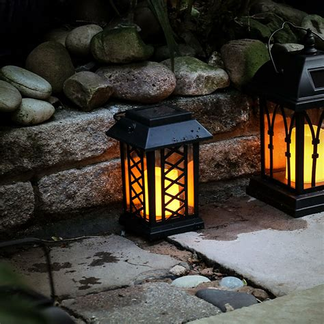 Garden Candle Lanterns by Solar Power Flameless Led Candle Lantern Lights Outdoor