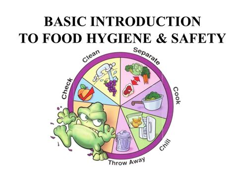 hygiene cuisine basic introduction to food hygiene safety ppt