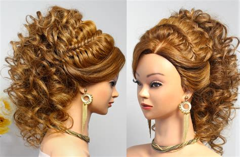 Curly Prom Bridal Hairstyle For Long Hair With French