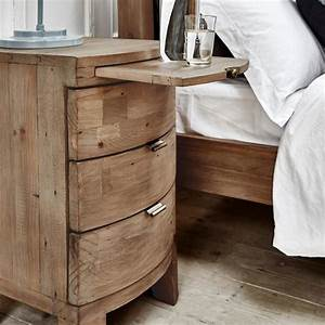 Solid Wooden Bedside Table Reclaimed Bedside Table