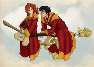 Adorable fan art of Harry and Ginny taking a... | Whispers ...