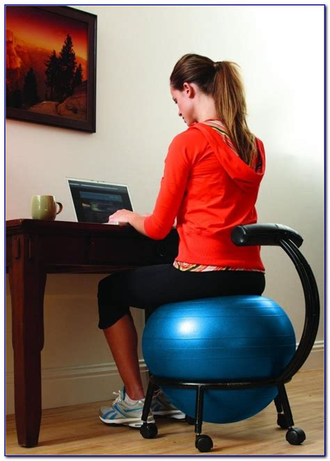 exercise ball  office chair benefits desk home
